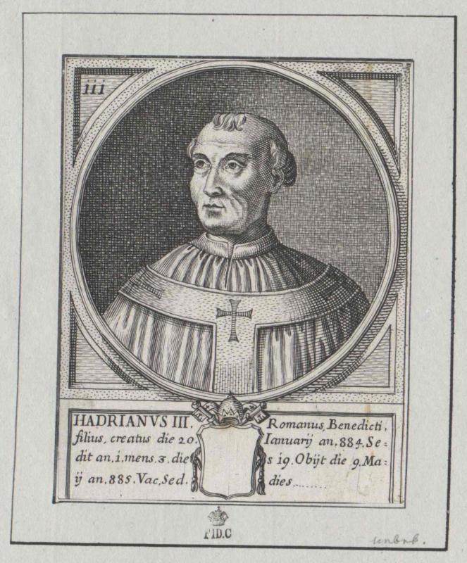 Hadrian III., papa