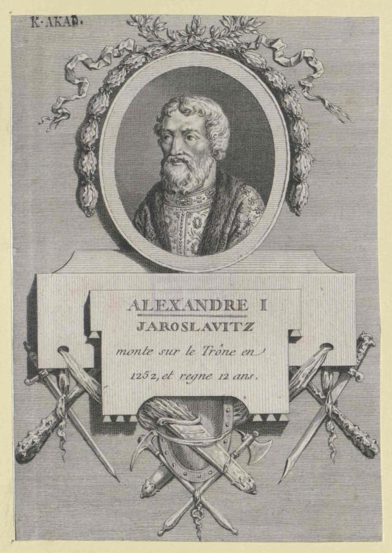 Alexander I. Newskij, Großfürst von Russland