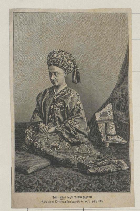 Bildnis der letzten Lieblingsgattin des Emirs von Afghanistan, Schir Ali (1825-1879)