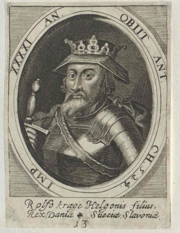 Rolfo Krage, König von Dänemark