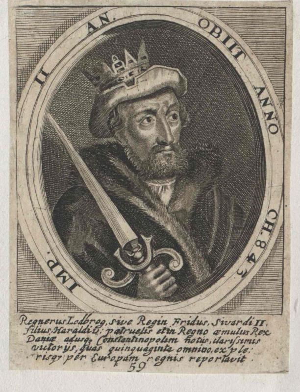 Regner Lodbrog, König von Dänemark