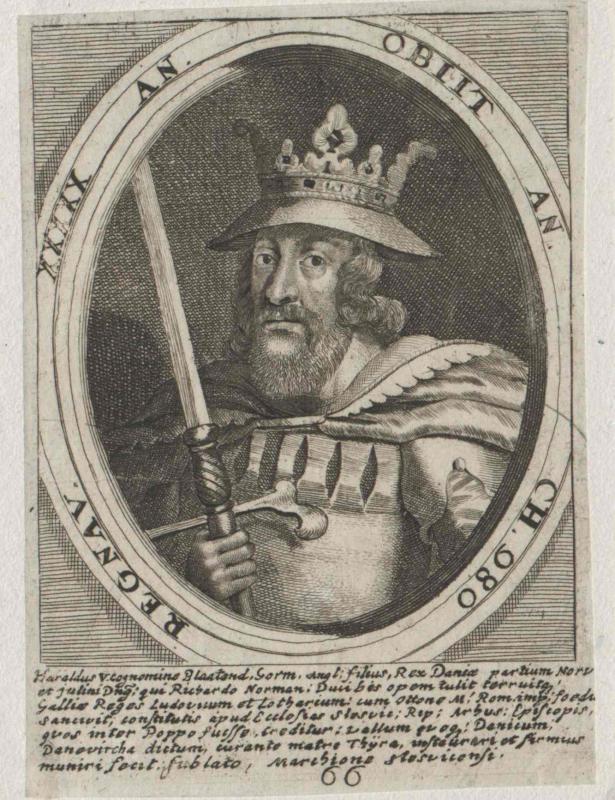 Harald Blauzahn Gormsson, König von Dänemark