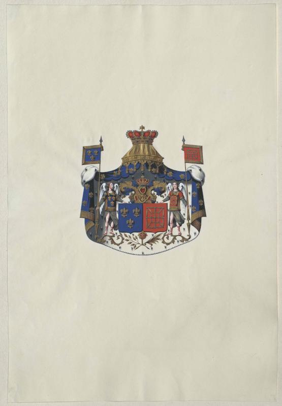Wappen der Königreiche Frankreich und Navarra