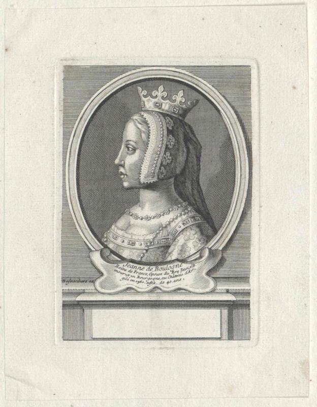 Auvergne et de Boulogne, Jeanne Comtesse d'