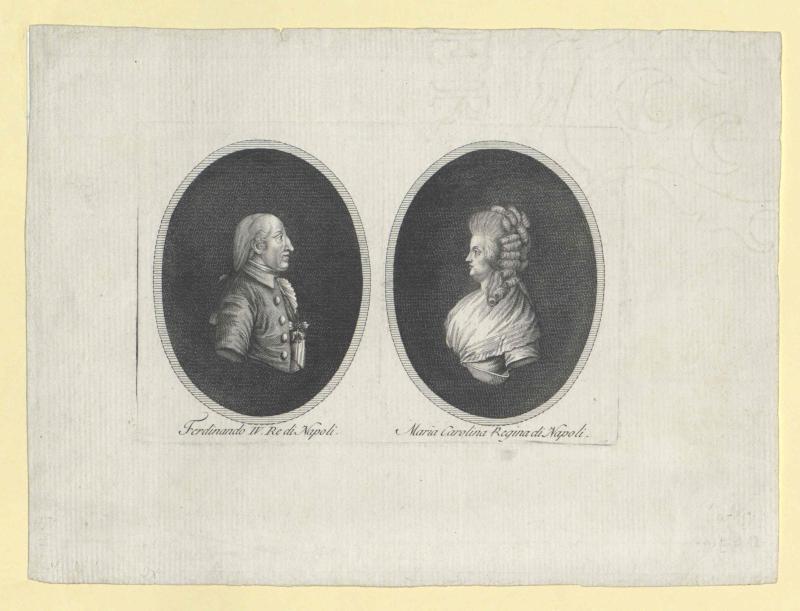 Ferdinand I., König beider Sizilien und seine Ehefrau Marie Karoline