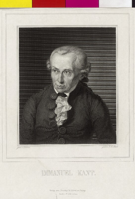 Bildnis Immanuel Kant (1724 - 1804)