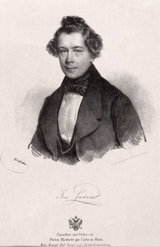 Joseph Lanner, 1839©Bildarchiv Austria, ÖNB