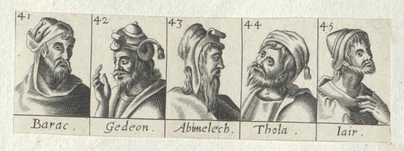 Fünf biblische Richter Israels