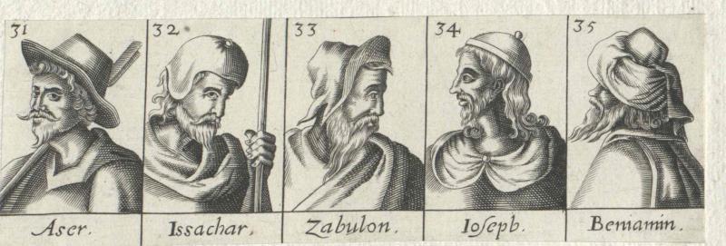 Fünf der Söhne Jakobs