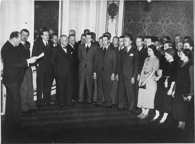 Vereidigung der Sportler für die Olympischen Winterspiele 1936 Garmisch-Partenkirchen