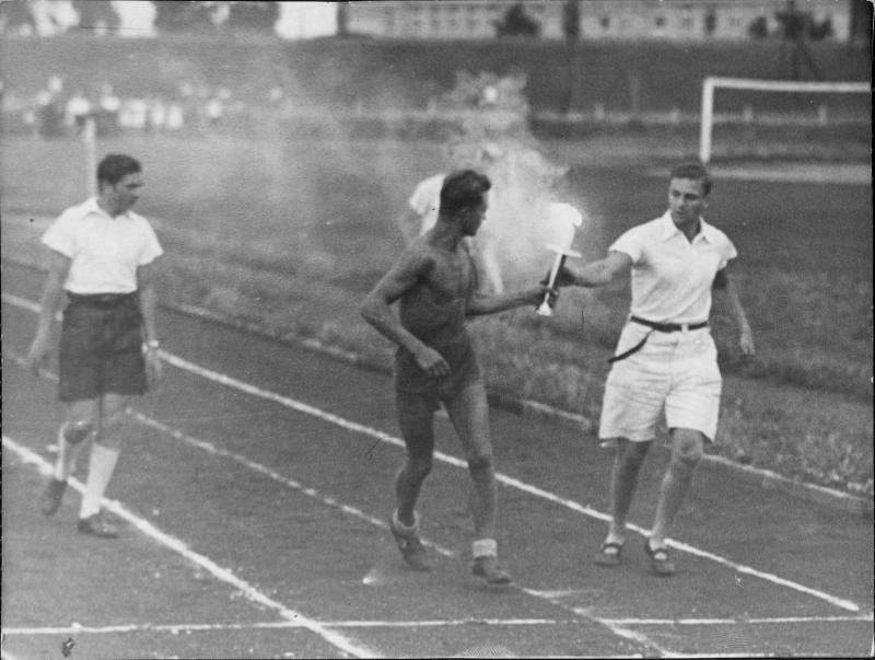 Generalprobe zum Olympia-Fackellauf