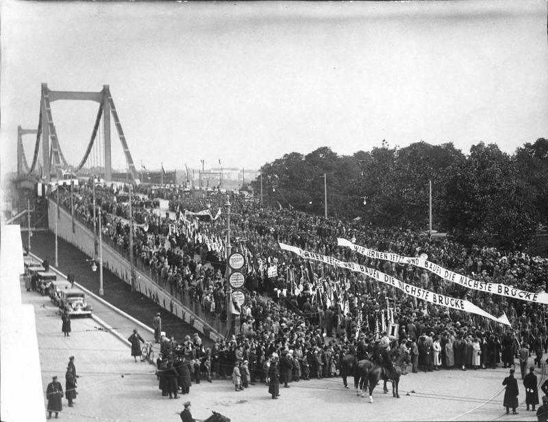 Eröffnung der Reichsbrücke in Wien