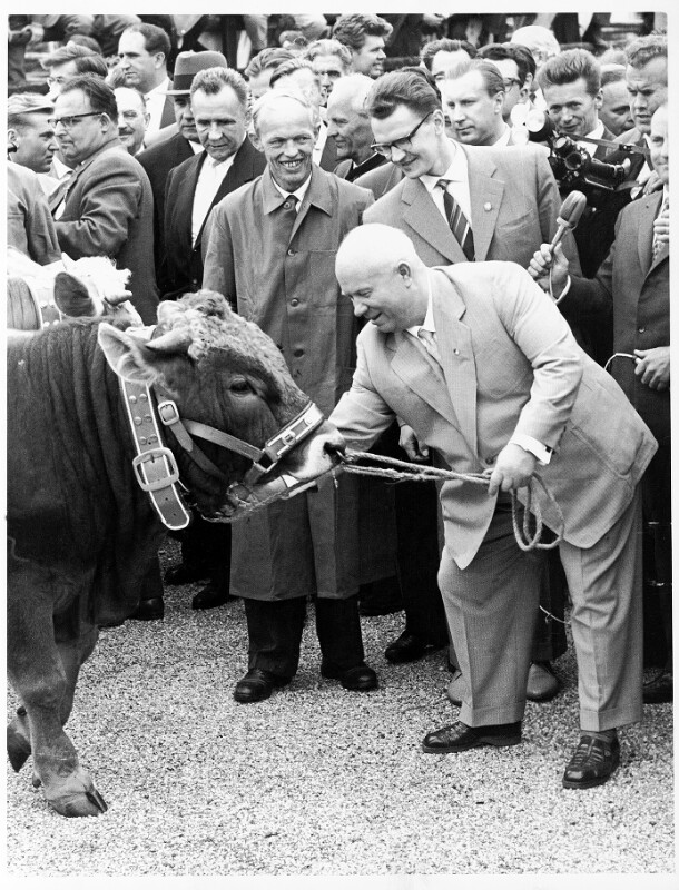 Staatsbesuch des sowjetischen Ministerpräsidenten Nikita Chruschtschow in Österreich