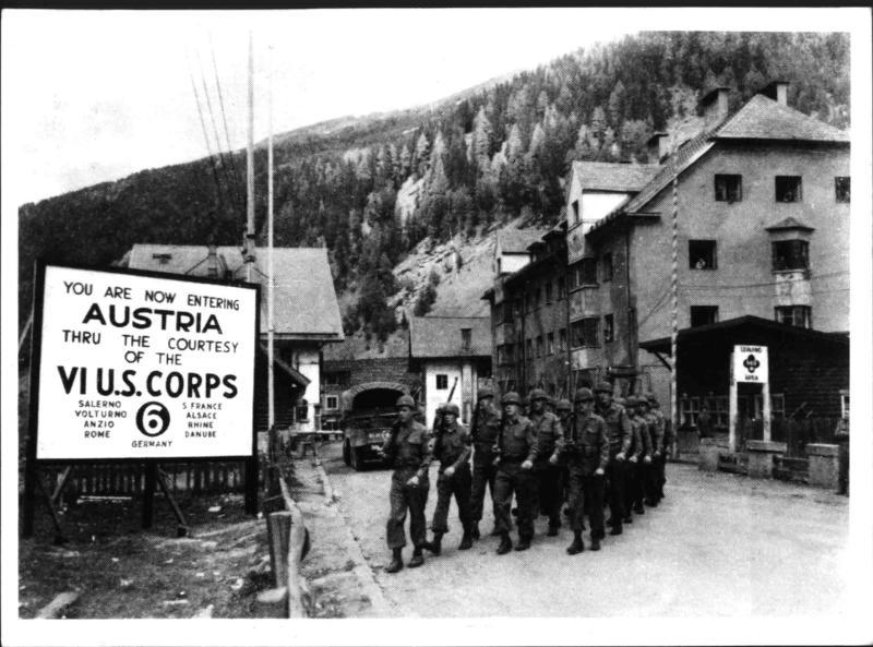 Alliierte Truppen in Westösterreich