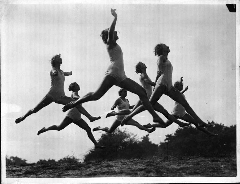 Gymnastik im Freien