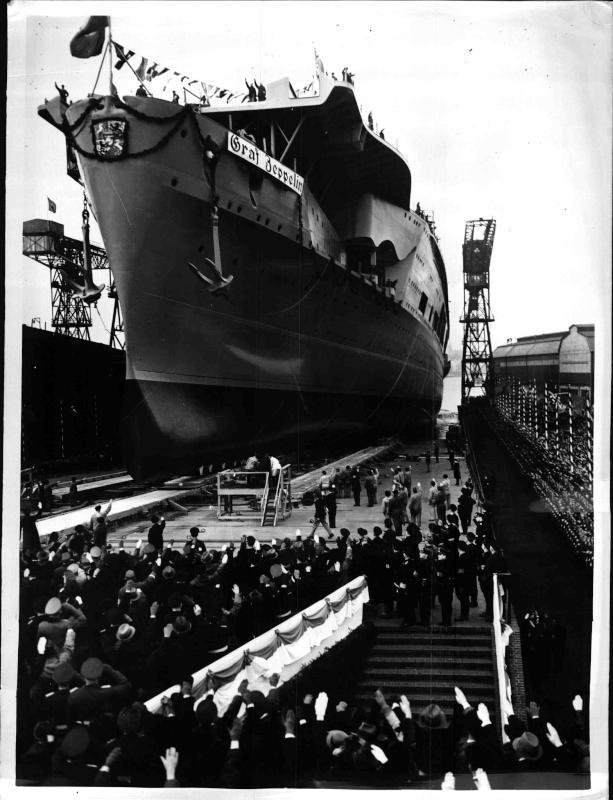 Erster deutscher Flugzeugträger in Kiel vom Stapel gelaufen