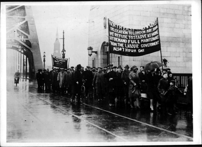 Arbeitslosen-Demonstration