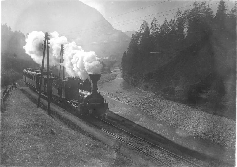 Dampflokomotive im Koppental