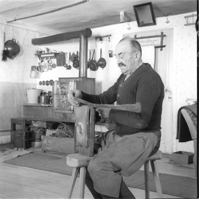 Sägefeiler in seiner Mühlviertler Werkstatt
