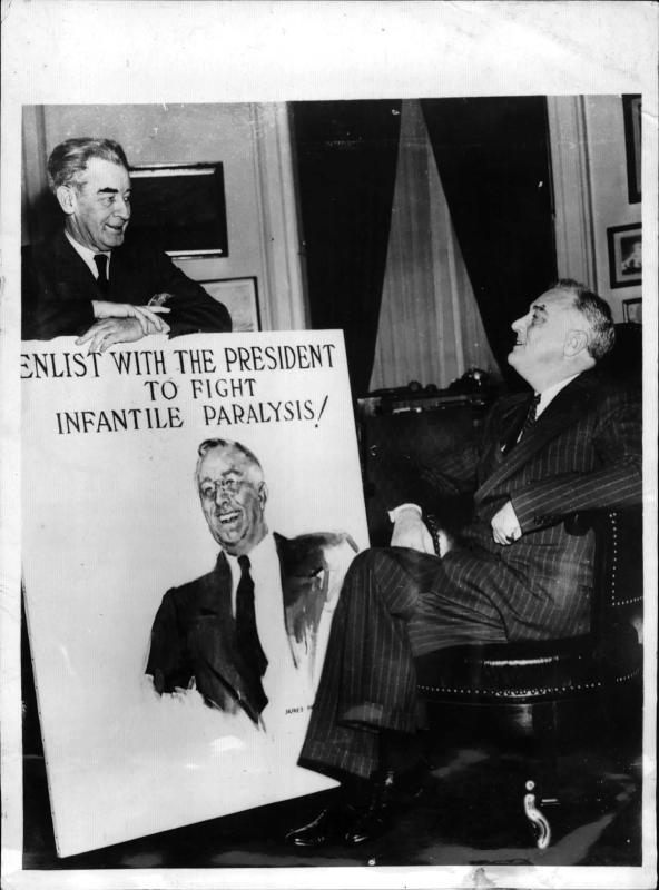 Präsident Roosevelt genehmigt Porträt für Weltausstellung