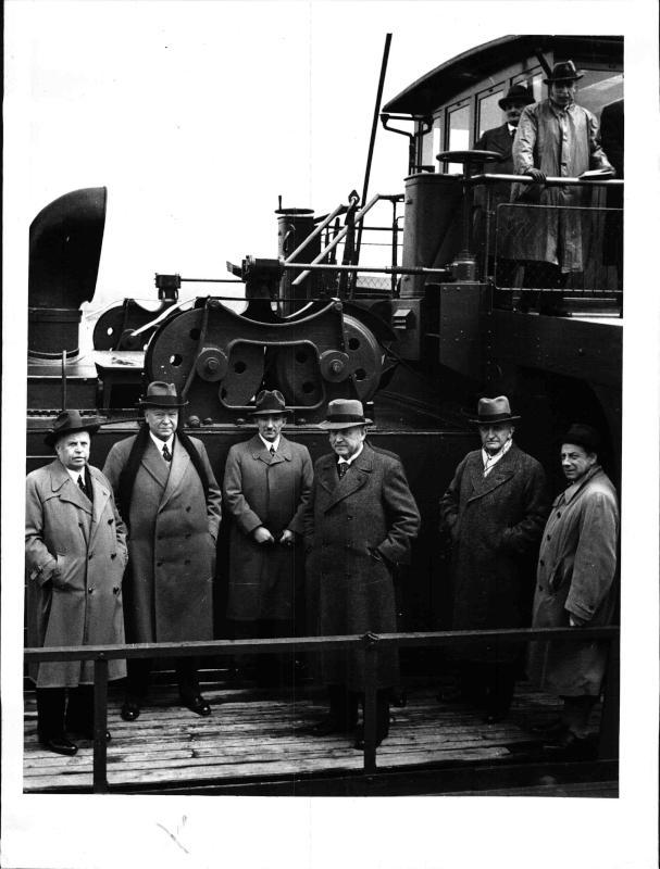 Besichtigungsfahrt des Reichsverkehrsministers Dorpmüller