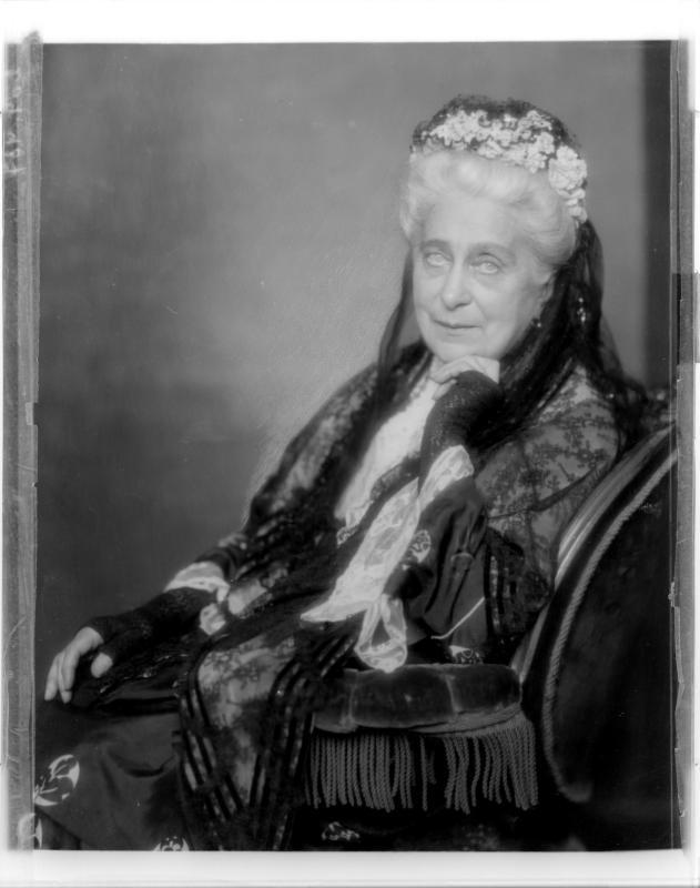 Auguste Wildbrandt-Baudius in fortgeschrittenem Alter