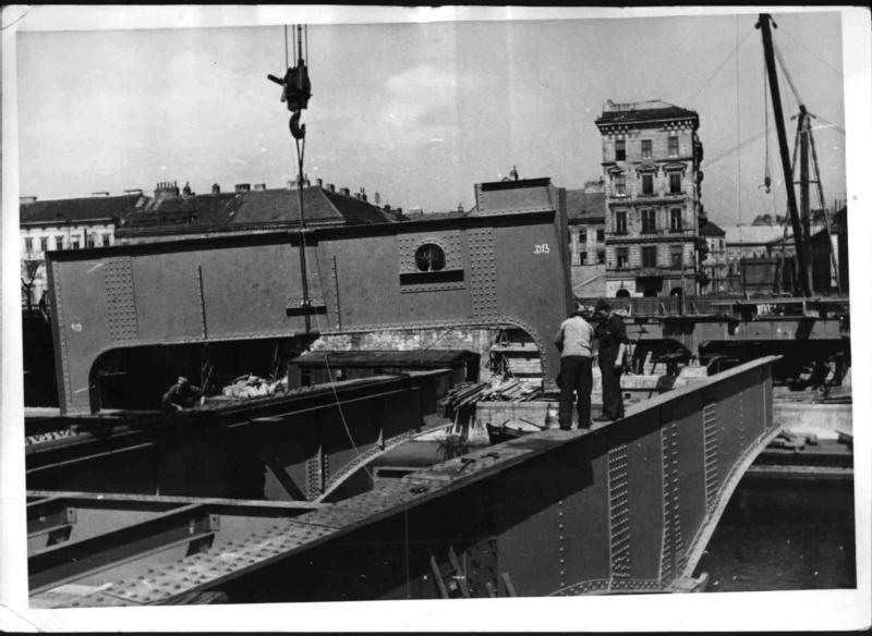 Bau der Aspernbrücke