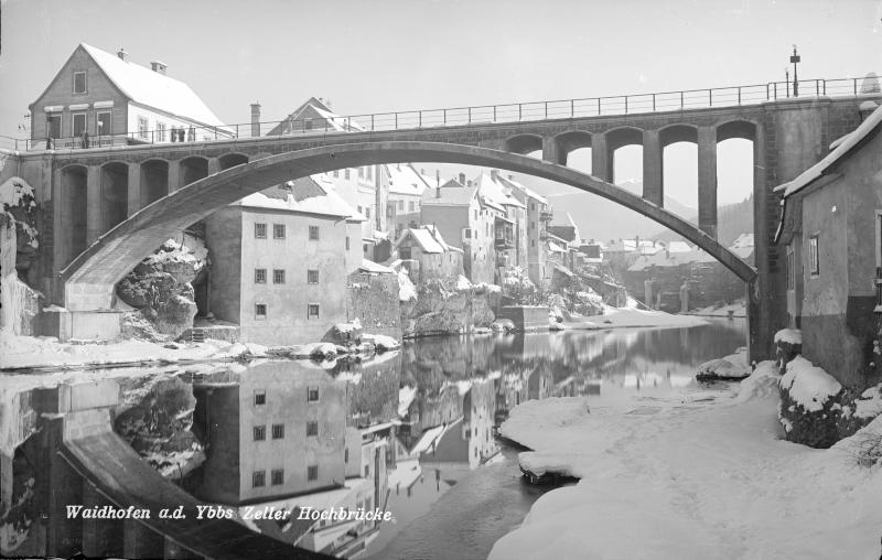 Zeller Hochbrücke im Winter