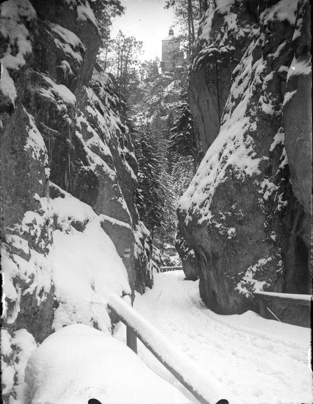 """""""Lange Brücke"""" bei Gutenstein im Winter"""