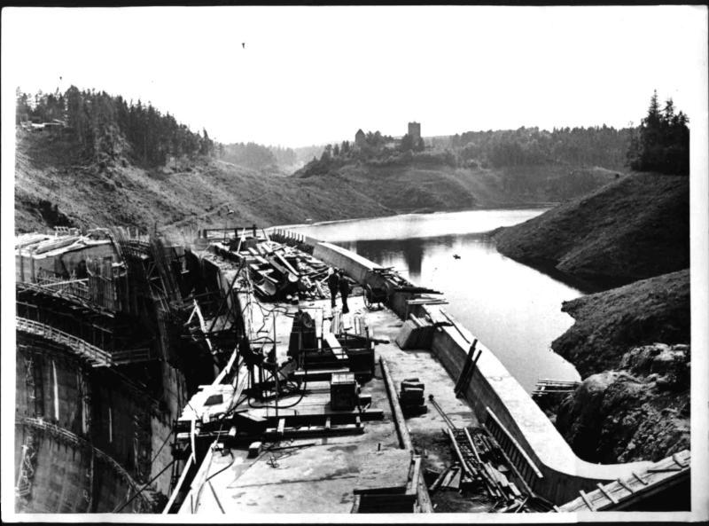 Bau des Kraftwerkes Ottenstein
