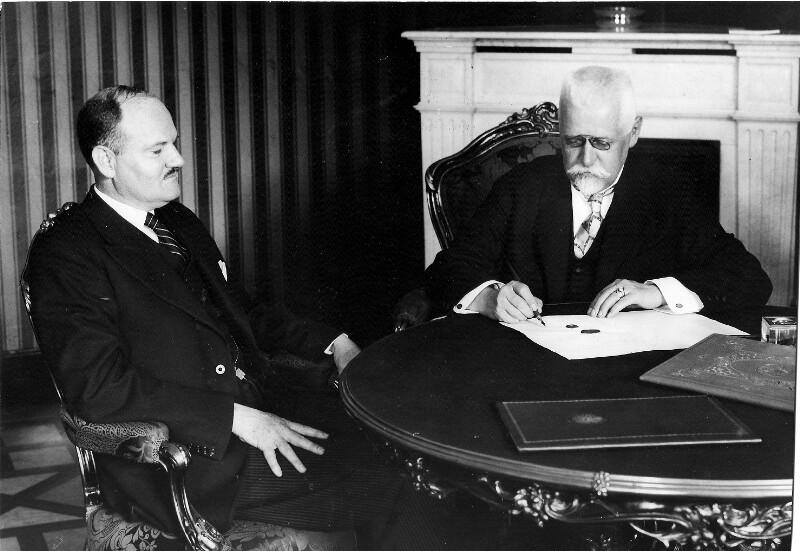 Unterzeichnung des österreichisch-amerikanischen Handelsvertrags im Bundeskanzleramt