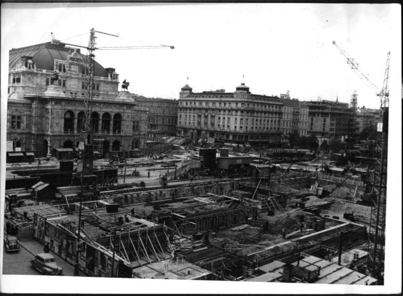 Bauarbeiten an Opernring und Opernkreuzung