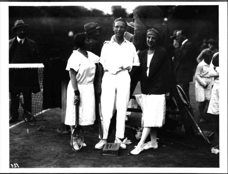 Suzanne Lenglen, Karel Kozeluh und Nelly Neppach