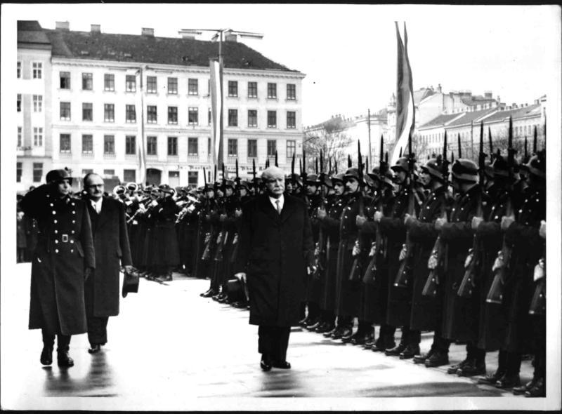 Ankunft des Regierungspräsidenten von Luxemburg Joseph Bech