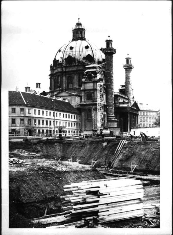 Baubeginn des Museums der Stadt Wien am Karlsplatz