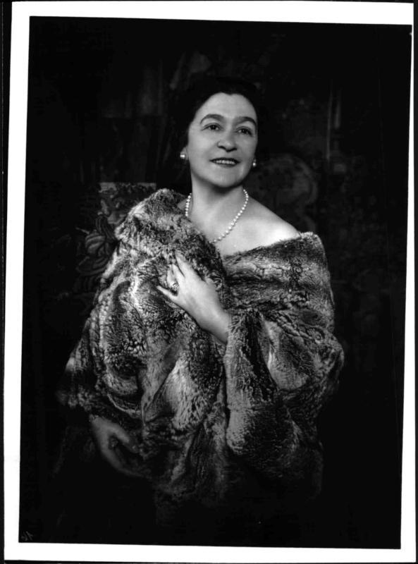 Die Opern- und Kammersängerin Selma Kurz-Halban