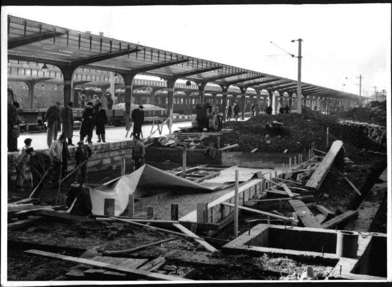 Bauarbeiten am Wiener Südbahnhof