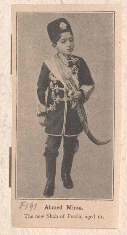 Achmet, Schah von Persien