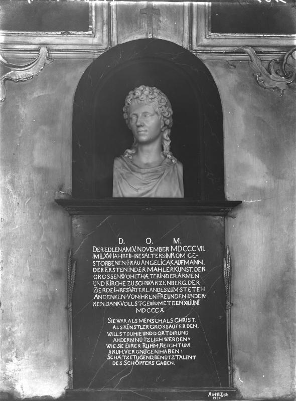 Schwarzenberg - Pfarrkirche - Büste Angelika Kauffmann