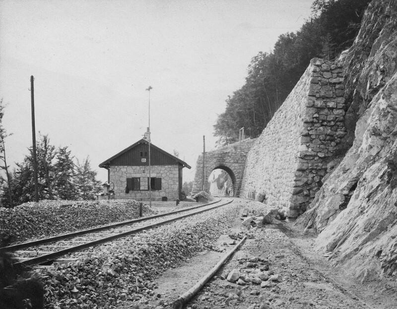 Arlbergbahn im Bau
