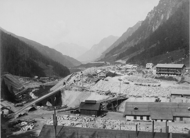 Arlbergbahn in Bau