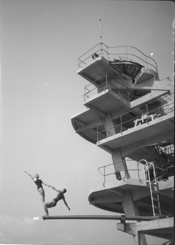 Auf dem Sprungturm in Millstatt
