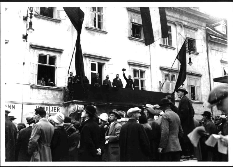 Sozialistische Kundgebung in Wiener Neustadt