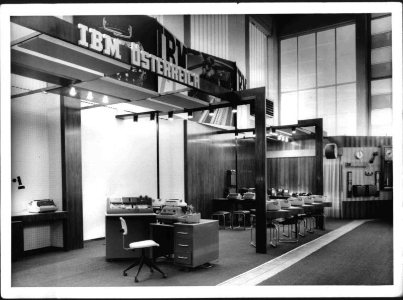 Der IBM-Stand auf der Wiener Frühjahrsmesse