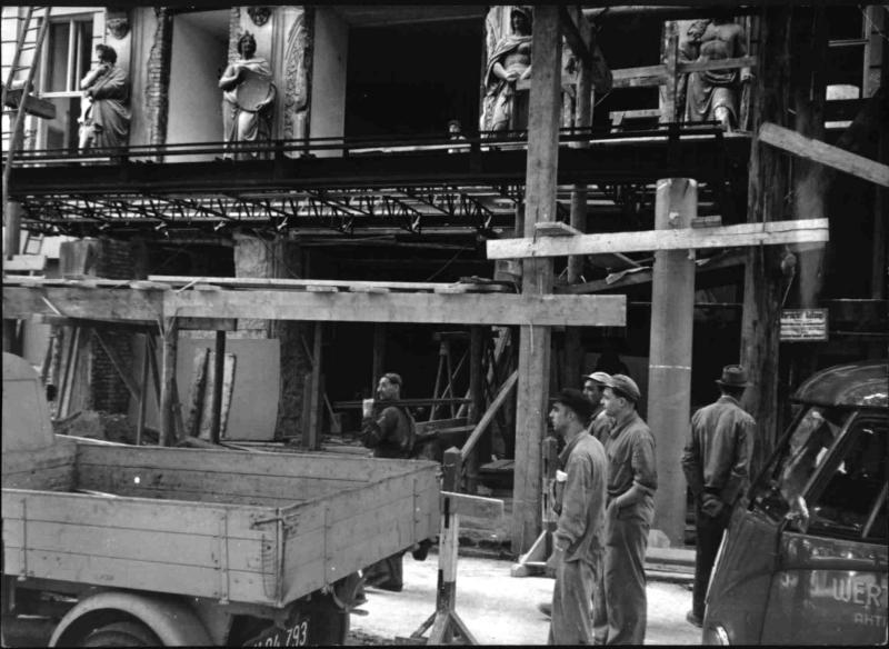Bauarbeiten am Hotel Imperial