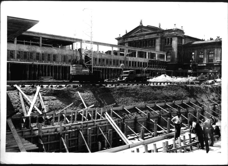 Bau des neuen Südbahnhofes
