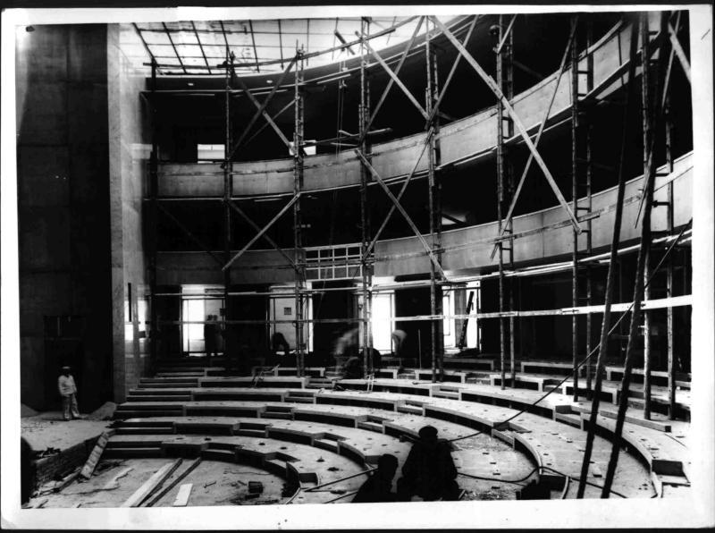 Bau des neuen Saales im Parlament