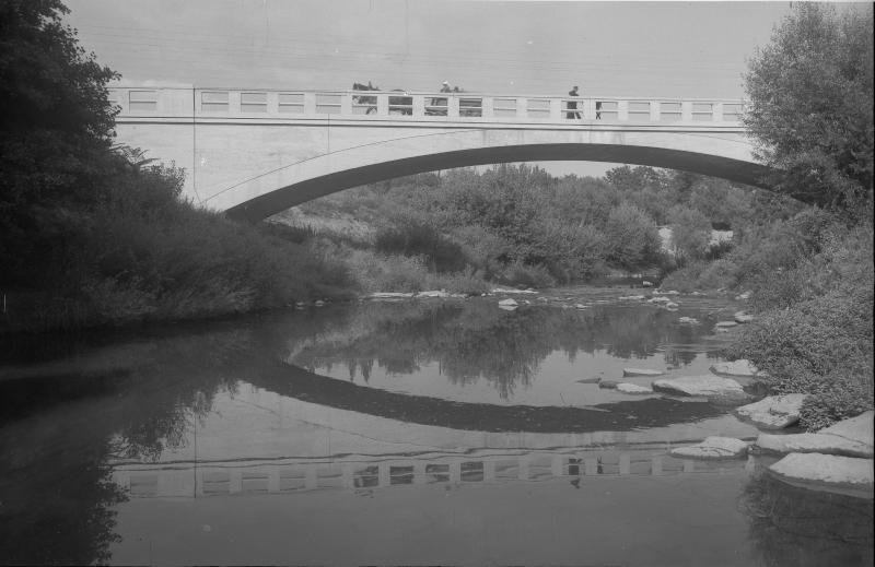 Neue Brücke über die Leitha