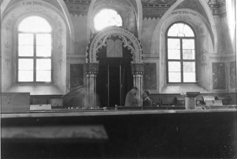 Eisenstädter Synagoge innen zerstört