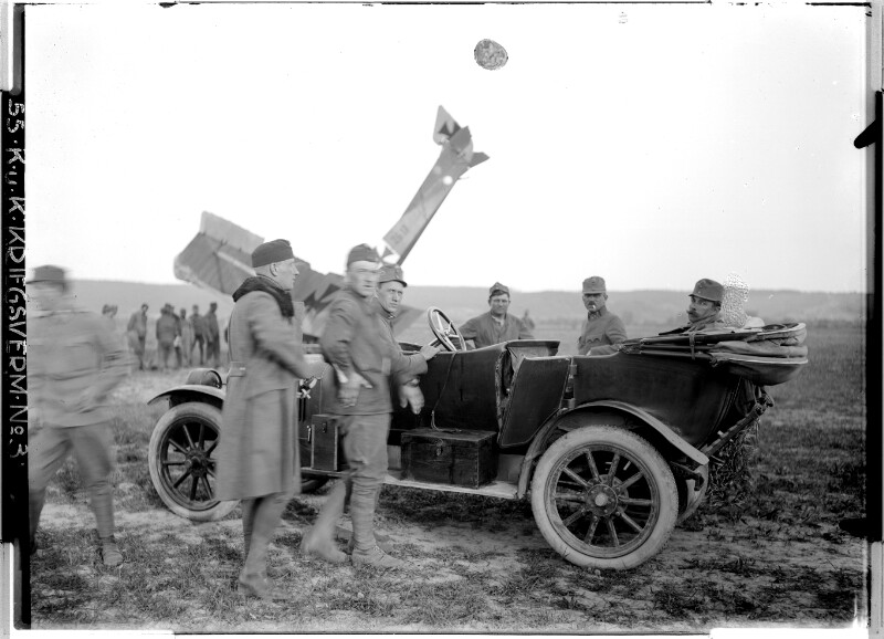 Chocin, abgestürztes Flugzeug, 25. Mai 1917.